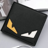 Wholesale Cool Business Bags - Small monster wallet Color eye purse Cool short cash note case Money notecase Leather burse bag Card holders