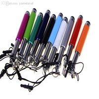 Wholesale Mini Styles Pen Iphone - Wholesale-Free shipping colorful mini retractable style stylus touch pen for capacity screen for iphone 4 5 6 for samsung s3 s4 note 2 etc