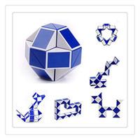 Wholesale Magic Ruler Puzzle Shengshou - Shengshou Magic Cube Puzzle High Quality Twist Jigsaw Puzzle Snake Magic Ruler 3D Snake Toys Kid Education Intelligence Toy Free Shipping