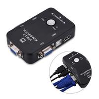monitorización del teclado al por mayor-Freeshipping 2 puertos USB 2.0 KVM Switch SVGA VGA Switch Box Monitor Teclado Ratón Adaptador de impresora Se conecta para la computadora