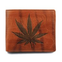 Wholesale Mens Leather Bags Wholesale - mens Short Leather Wallet luxury wallets for Men Vintage Maple Leaf Purse designer purses Card Holder Money Bag man gifts wholesale NEW