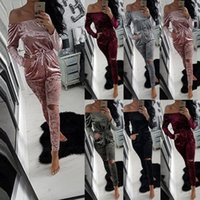 Wholesale Short Pant Jumpsuits For Women - Superior Quality Main PUSH Velvet Strapless Top Pants V-neck Rompers For Romper Women Short Woman Jumpsuit 2016 Winter Fashion