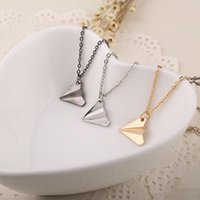 Avion Colliers pendants bande One Direction réplique Origami Paper Plane Colliers simple Fashion Jewelry femmes livraison gratuite