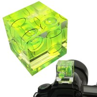 Wholesale Axis Bubble - 1PC 3D Triple 3 Axis Bubble Spirit Level with Hot Shoe Adapter for Brand C N P and all Cameras Clever Leveling Device
