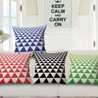 Wholesale Triangle Pillow Wholesale - Pillowcase Triangle Printing 45CM Pillow Covers Ethnic Style Showroom Office Car Nap Cushion Case 4 Styles To Choose