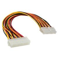 ingrosso pin estensione-All'ingrosso-Top qualità 24 pin maschio a 24 pin femmina interno PSU adattatore di alimentazione del cavo di prolunga ATX connettore
