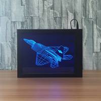 3D AircraftLED Photo Frame Decoration Lamp IR Remote 7 RGB Lights DC 5V Factory Wholesale Drop Shipping