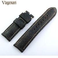 Wholesale Cm Fire - Wholesale- Hot Selling 241 Fire Cracks Pattern 24 22mm Italian Genuine Leather Watch Strap Watchband with Buckle