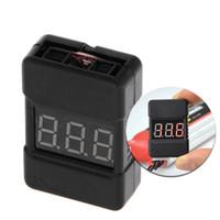lipospannungsalarm großhandel-1 stück BX100 1-8 S Lipo Batterie Niederspannung Power Display Tester Summer Alarm Schwarz