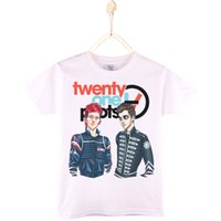 Wholesale Girls Top Nova - 2017 Fashion Nova Children T Shirts Cotton Short Sleeve Twenty One Pilots Print Kids T-shirt Boys Baby Clothes Girls Tops Child Shirt 4T-12T