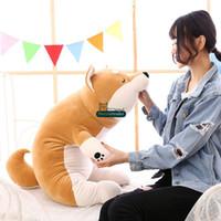 Wholesale Giant Stuff Dog Toys - Dorimytrader 2017 Fashion 100cm Giant Lying Animal Akita Plush Toy Pillow Stuffed Cartoon Anime Shiba Inu Dog Doll 39inches Gift DY61610