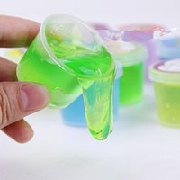 Wholesale Hot slime clay colorful slime toys mud clay non toxic environmental protection Funny slime Toy can blowing bubbles draw