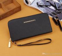 Wholesale Large Coin Purse Bag - 2017 new style European style brand wallets fashion zipper leisure purses large capacity designer pocket bag women bags