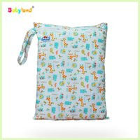 Wholesale Diaper Bag Pieces - Wholesale-12 Pieces Mommy Bag Diaper Bag Wetbag Waterproof Pevent Leakage 8 Solid Colors and 55 Printed Patterns Mixed