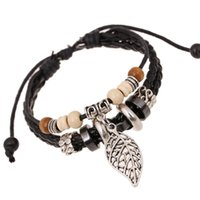 Wholesale 2017 New Arrival Fashion Jewelry For Men Beaded Strands Bracelet Punk Hip Hop Street Style Party Club High Quality Black And Brown Bracelets