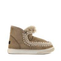 Wholesale Snow Rubber Shoes Sole - Eskimo Snow Ankel Boots Fur Material Super Warm 2.5cm Platform Rubber Sole Shoes For Women