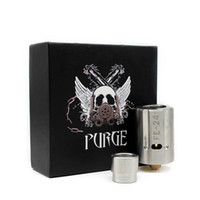Wholesale T Clamps - Purge PE-24 RDA Clone 22mm Diameter Rebuildable Dripping Atomizer Unique T-clamping Type Center Post Design 3 Colors (DHL Free Shipping)