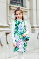 Wholesale Dresses Girls Years - Girls Dresses Summer 2017 Designer Children Clothes Girls Princess Dress Girl Printed Flowers Vestidos Stylish Children Clothing 12 Years