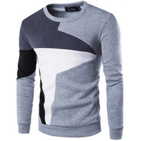 Wholesale Wholesale Mens Sweaters - Wholesale- 2017 New Spring Autumn Fashion Casual Sweater O-Neck Slim Fit Knitting Mens Sweaters And Pullovers Men Pullover Men
