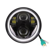 """Wholesale Dyna Led - 5-3 4"""" Motor Round Headlamp Harley Dyna Sportster 1200 48 883 Parts Turn Signal Light Daymaker 5.75 Inch Projector LED Headlight"""