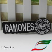 Wholesale Rock Band Patches - PUNK ROCK BAND Music LOGO RAMONES Patches Embroidered Iron On Badge Patch Hat Jacket Shoes Applique DIY Accessories 10pcs lot