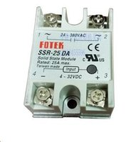 Wholesale Universal Relay - Wholesale- 1pcs solid state relay SSR-25DA 25A 3-32V DC TO 24-380V AC SSR 25DA