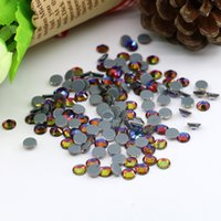 Wholesale Fire Outlet - Iron on glass rhinestone factory outlet 2028# Austrian NEW HOTFIX Rhinestone SS6,SS8,SS10,SS16,SS20, 1440pcs lot, (Blue Fire)