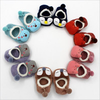 Wholesale Kids Slippers Wholesale - Baby Socks 3D Cartoon Sock Toddler Non-slip Floor Hosiery Newborn Cotton Fashion Socks Kids Winter Slipper Socks Footwear Baby Booties B3033
