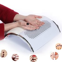 Wholesale Manicure Vacuum - Wholesale- Nail Dust Suction Fan Collector Vacuum Cleaner Manicure Tools with 2 Dust Collecting Bags