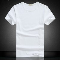 Wholesale Shirt Hands - Men's short-sleeved T-shirt pure cotton summer collar with white and white hand-painted han edition