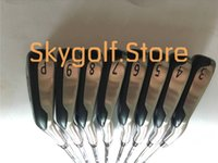 Wholesale Full Set Golf Clubs - 2017 New MB718 T-MB 718 Forged Golf Irons #3456789P Golf Iron Set With Rifle project x-6.0 Steel Shafts Full Golf Clubs Hot Sale