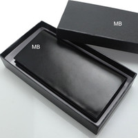 Wholesale Genuine Leather Checkbook Wallet - Luxury European popular the new fashion business men's soft Genuine leather MB wallet. High-end gift box package free shipping