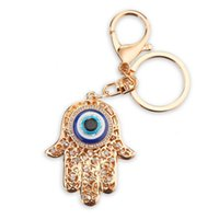 Wholesale Personalized Couple Key Chains - Zinc Alloy Crystal Palm Key Chain Customized Name Keychain Women Personalized Couple Key Ring Hand Stamp Chaveiro PWK0262