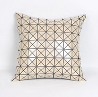 Wholesale Diamond Cushion Covers - New Sequins Pillow Case Paillette Diamond Decorative Cushion Covers Geometry Car Throw Pillowcase Pure Color 2 Styles YW79