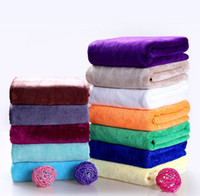 Wholesale Towel Sheet Wholesale - Microfiber Bath Towels Beauty Salon Towel Drying Washcloth Soft Swimwear Shower Towel Body Wrap Travel Camping Towels Bath Sheet KKA1315