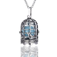 Wholesale Pregnant Halloween - Birdcage Sound pearl cage lockets Pendant Necklaces Opening floating Sound bead Lockets necklace For pregnant woman Jewelry