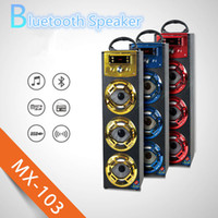 Wholesale Portable Outdoor Stage - Wireless Bluetooth Speaker MX103 Big Outdoor Bluetooth Speaker With LED Light Support TF Card FM For Stage Home Theatre KTV