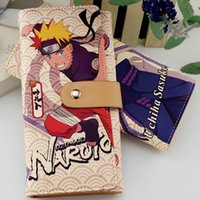 Wholesale Uzumaki Naruto Purse - Uzumaki Naruto wallet Japanese anime purse Fashion long cash note case Money notecase Leather burse bag Card holders