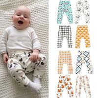 Wholesale Tight Casual Girl - Baby Clothes Ins PP Pants Toddler Ins Harem Pants Kids Cotton Fashion Pants Boys Lemon Leggings Girl Fox Tights kids Trousers KKA2138