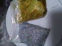Grossiste-10g / sac Diamant holográfices scintillant Ultra Fine .008, argent et or arc-en-glitter, lâche brille, gel UV ongles scintille LB1001