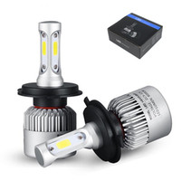 Wholesale H4 Led High Low Beam - S2 H4 H7 H13 H11 H1 9005 9006 H3 9004 9007 9012 COB LED Headlight 72W 8000LM High Low Beam Bulb All In One Automobile Lamp 6500K 12V