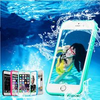 Barato Capa Impermeável Iphone5s-Para Apple iphone7 6 6s mais 100% Waterproof Water Phone Case TPU Material Transparente Screen Support ID Fingerprit Cover para iphone5S SE