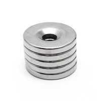 Wholesale Disc Magnet Hole - 10pcs 20 x 3 mm Hole 5mm N35 Super Strong Permanet Round Neodymium Countersunk Ring Magnet Rare Earth Magnets