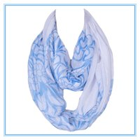 Wholesale Hot News Women - Wholesale-Hot Sale Fashion Women Warp Ring Wholesale Voile Printing Femme Scarves Shawls Foulard Hijab Infinty Echarpe 180*50cm 2017 News