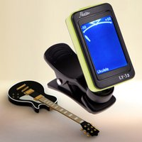 Mini LCD Clip-on Digital Chromatic Electronic Guitar Tuner Bass Violino Ukulele Il più nuovo trasporto libero