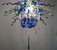 ingrosso lampadario a bolle murano-Nuovo arrivo Murano Chandelier Free Air Shipping Fiore personalizzato in vetro stile Bubble Mini Lampadario Moroccan Light