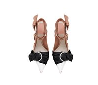 Wholesale Bandage Sandals - 2017 Women Pumps chunky high heels bandage Sandals women slingback pointed toe big buckles butterfly Summer Shoes feminina