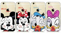 Wholesale Iphone Donald - for iphone5 6 6s 7 Plus 5S 4S 5C Cute Mickey Minnie Mouse Donald Daisy Duck Case Soft Clear TPU Rubber BACK Cover