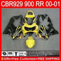 Wholesale black cbr 929 fairing for sale - Group buy Body For HONDA CBR RR CBR900RR CBR929RR CBR RR NO9 Yellow black CBR929 RR CBR900 RR CBR RR Fairing kit Gifts