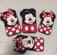 Wholesale Mouse Silicon Case - for iPhone 7 Cute Cartoon 3D Mickey Minnie Lover Case silicon Mouse Soft Silicone Back Cover Shell for iPhone 7 5S 6 6s 6plus Plus